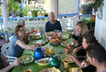 breakfast buffet at our st lucia guesthouse